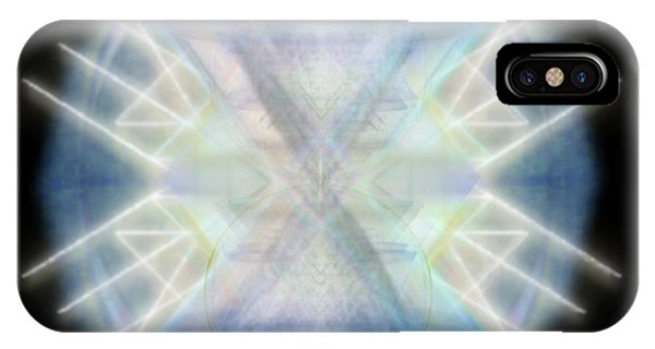 Mirror Emergence IIi Blue Green Teal IPhone Case