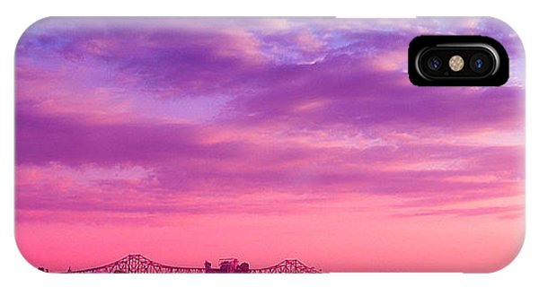Mississippi River Bridge At Twilight IPhone Case