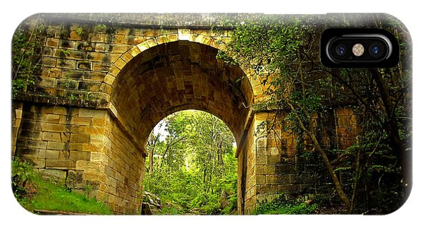 Mitchells Pass Bridge Lapstone A Convict Built Bridge IPhone Case