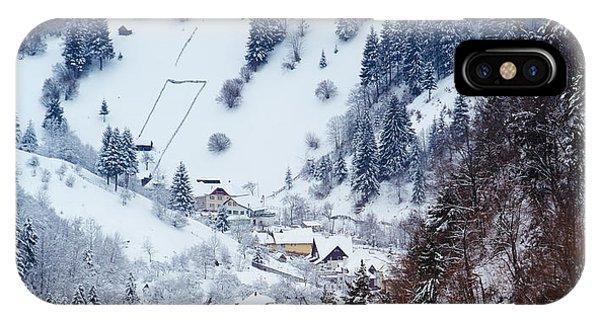 Moeciu Village In Winter Phone Case by Gabriela Insuratelu