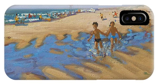 Sunbather iPhone Case - Montalivet France by Andrew Macara