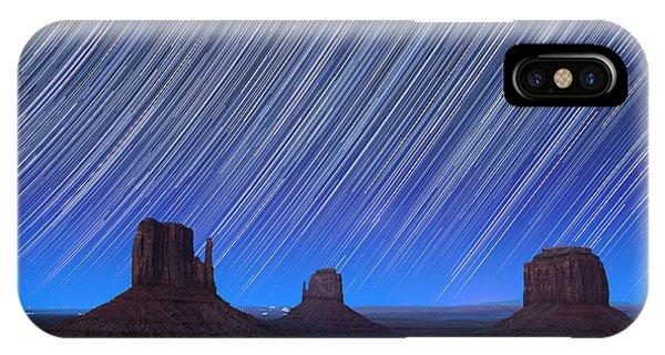 Astro iPhone Case - Monument Valley Star Trails 1 by Jane Rix