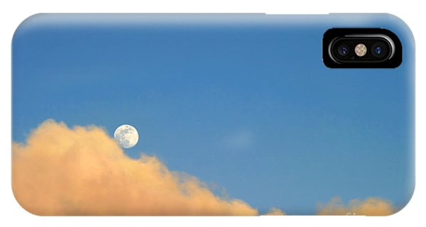 Moon At Sunset IPhone Case