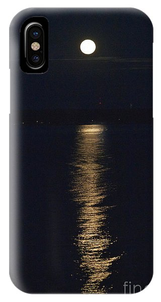 IPhone Case featuring the photograph Moon Over Seneca Lake by William Norton