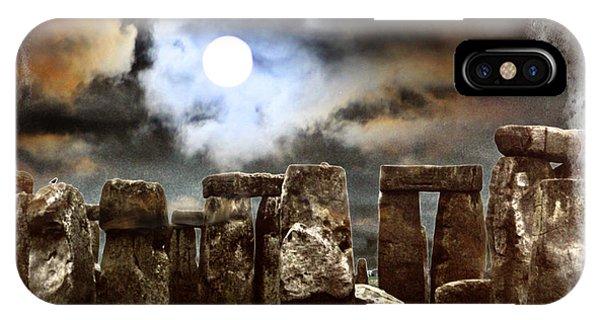Moon Over Stonehenge IPhone Case