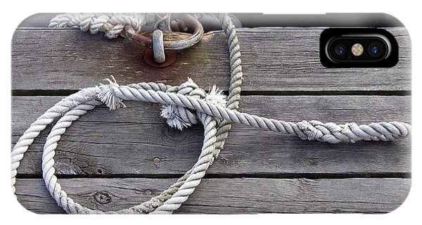 iPhone Case - Mooring And Rope by Are Lund