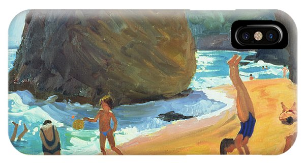 Sunbather iPhone Case - Morning Platja Dos Rosais Costa Brava by Andrew Macara