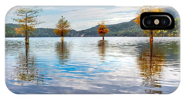 Chilhowee iPhone Case - Morning Shimmer by Debra and Dave Vanderlaan