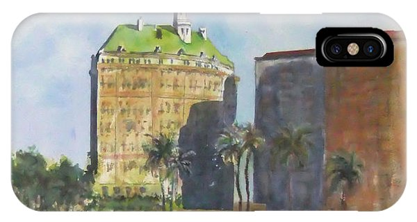 Morning Walk By The Villa Riviera IPhone Case
