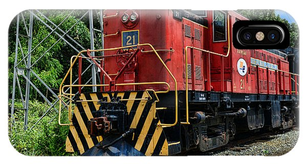 Railroad Signal iPhone Case - Morristown  Erie Engine No.21 by Paul Ward