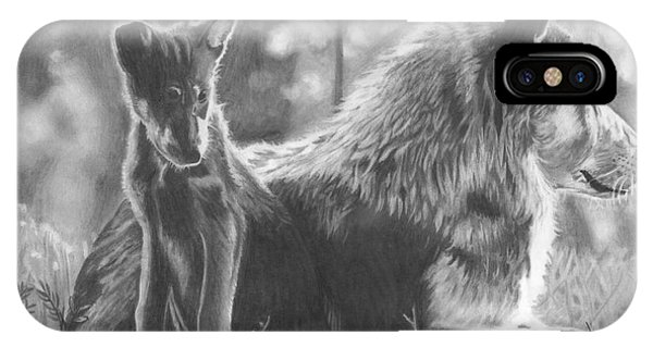 Mother And Pup IPhone Case