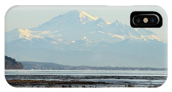 Mount Baker From Boundary Bay Phone Case by Pierre Leclerc Photography