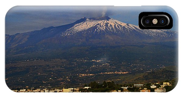 Etna iPhone Case - Mount Etna by David Smith