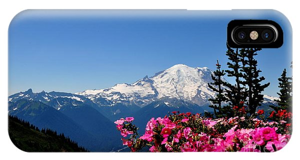 Mount Rainier Seen From Crystal Mountain Summit  2 IPhone Case