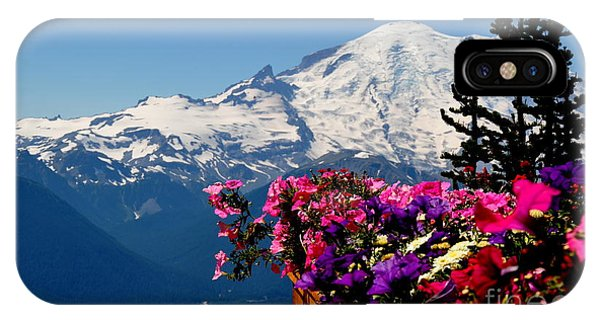 Mount Rainier Seen From Crystal Mountain Summit  3 IPhone Case