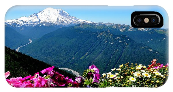 Mount Rainier Seen From Crystal Mountain Summit IPhone Case