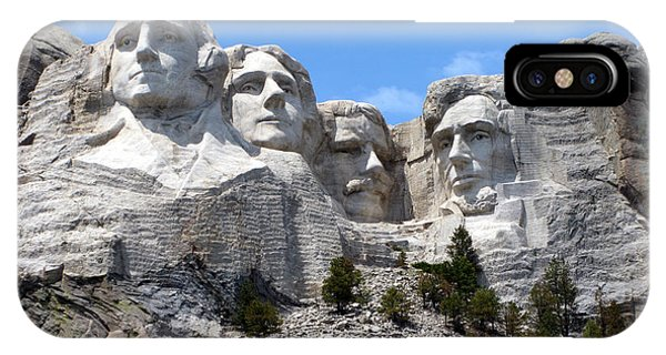 Lincoln Memorial iPhone Case - Mount Rushmore Usa by Olivier Le Queinec
