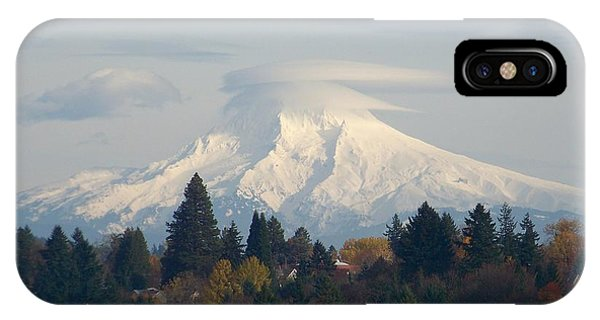 Mt Hood Snowcapped IPhone Case