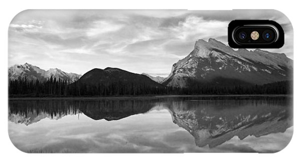 Mt. Rundel Reflection Black And White Phone Case by Andrew Serff