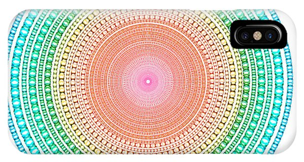 Digital Effect iPhone Case - Multicolor Circle by Atiketta Sangasaeng