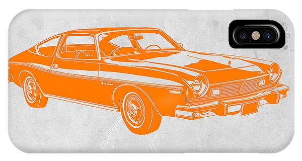 American Cars iPhone Case - Muscle Car by Naxart Studio