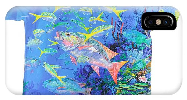 Reef iPhone Case - Mutton Snapper Mens Shirt by Carey Chen