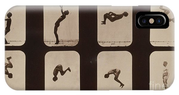 Stop Action iPhone Case - Muybridge Locomotion, Back Somersault by Photo Researchers