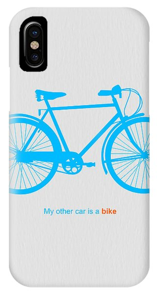 Bicycle iPhone X Case - My Other Car Is A Bike  by Naxart Studio