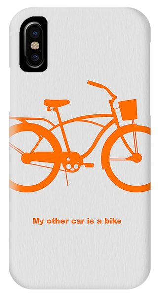 Bicycle iPhone X Case - My Other Car Is Bike by Naxart Studio