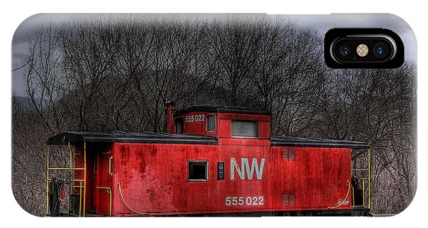 Red Caboose iPhone Case - N W Caboose by Todd Hostetter