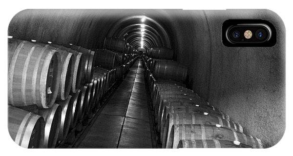 Napa Wine Barrels In Cellar IPhone Case