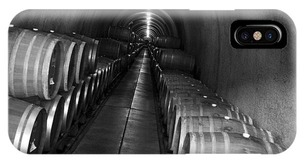 Napa Wine Barrels In Cellar IPhone Case