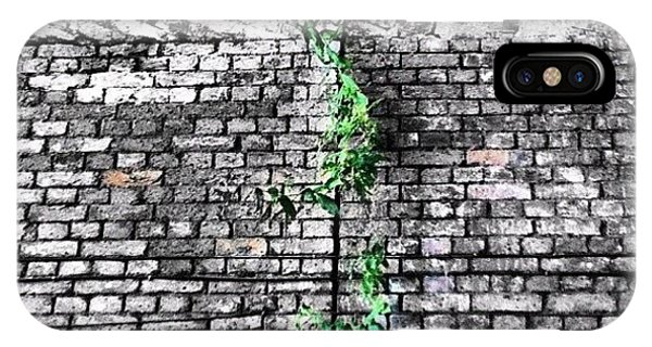 London Bridge iPhone Case - Nature Always Wins! #leaves #plant by Ritchie Brown