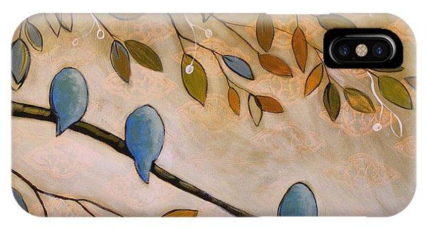 Nature Birds Painting...peaceful Garden IPhone Case