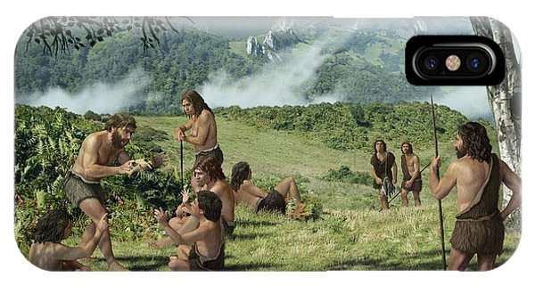 Neanderthals In Summer, Artwork Phone Case by Mauricio Anton