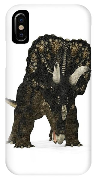 Diceratops iPhone Case - Nedoceratops Dinosaur by Walter Myers