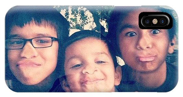 Vw Bus iPhone Case - Neighborhood Boys In #vw #bus #vanlife by Allison Faulkner