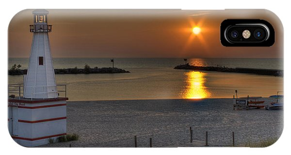 New Buffalo City Beach Sunset IPhone Case