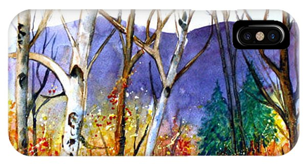 IPhone Case featuring the painting New England Fall by Priti Lathia