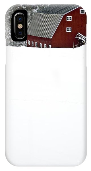 New England Barn iPhone Case - New England Winter by Edward Fielding