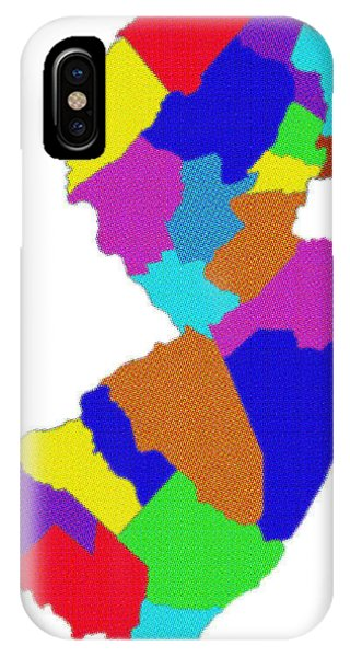 New Jersey Colorful Counties IPhone Case