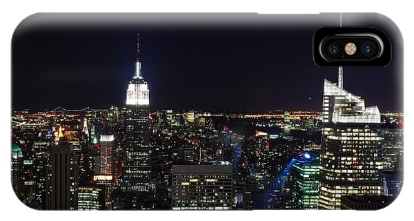 New York At Night Phone Case by Alan Clifford