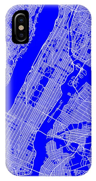 New York City Map Streets Art Print   IPhone Case