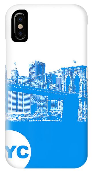 Skyline iPhone Case - New York Poster by Naxart Studio