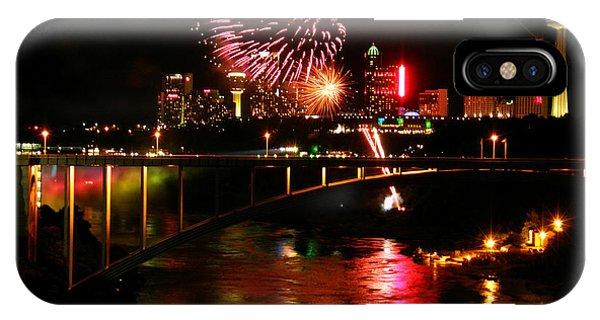 Niagara Falls Fireworks IPhone Case