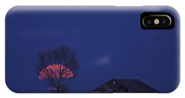 Night Shot Saskatchewan Canada IPhone Case