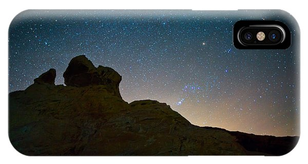 Valley Of Fire iPhone Case - Night Sky Over Valley Of Fire by Rick Berk
