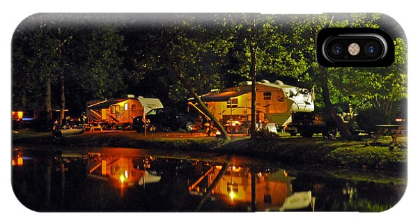 Nighttime In The Campground IPhone Case