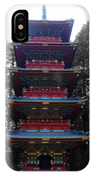 Temple iPhone Case - Nikko Pagoda by Naxart Studio