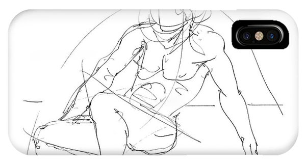 Nude-male-drawings-13 IPhone Case